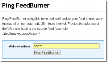 FeedBurner.com ping