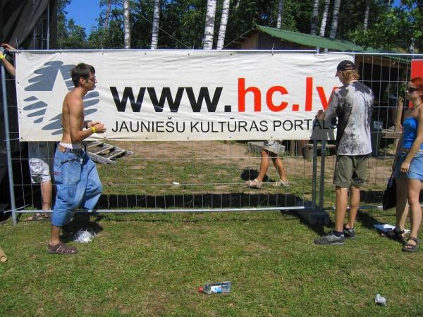 Baneris ar HC.LV logo