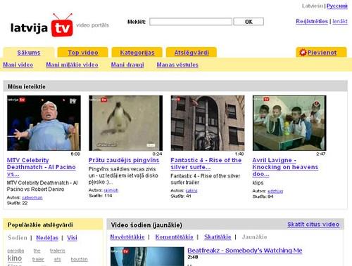 Latvija.tv ekrānšāviņš