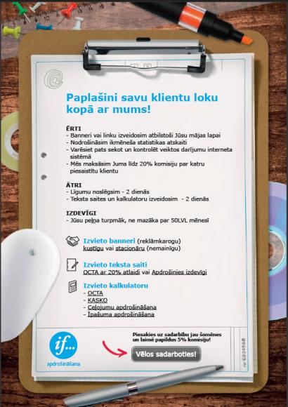 If Latvia apdrošināšanas partnerprogramma