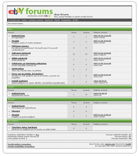 ebay forums