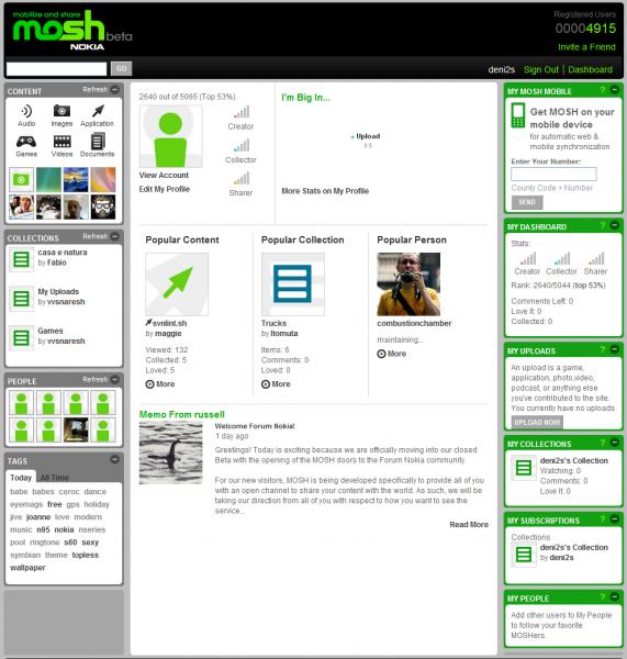 Mosh by Nokia ekrānšāviņš